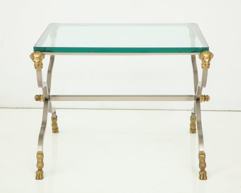 Pair of Stylish Brass End Tables For Sale 10