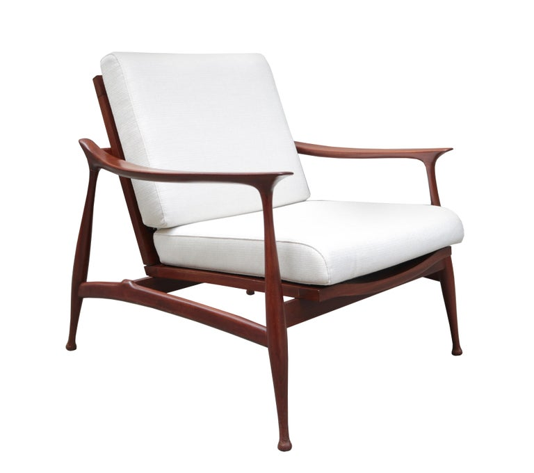 """A Pair of """"Lord"""" lounge chairs  designed by Ico Parisi for Fratelli Reguitti. Solid Palisander."""