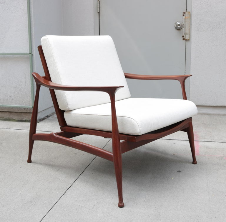 "Italian Pair of Stylish Ico Parisi  ""Lord"" Lounge Chairs"