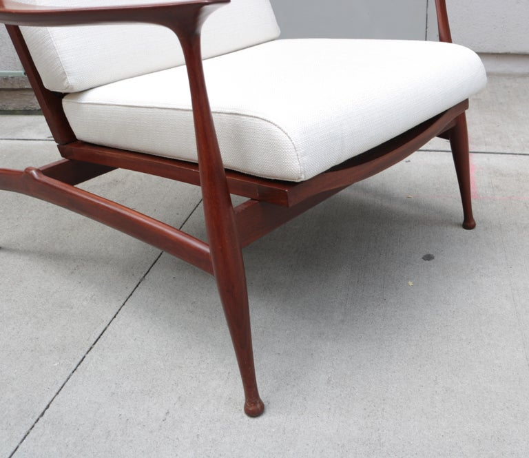 """Pair of Stylish Ico Parisi  """"Lord"""" Lounge Chairs In Good Condition In New York, NY"""