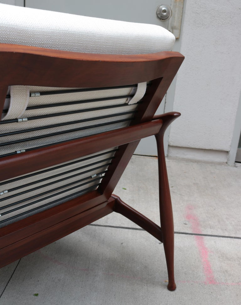 """Palisander Pair of Stylish Ico Parisi  """"Lord"""" Lounge Chairs"""