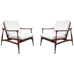 "Pair of Stylish Ico Parisi  ""Lord"" Lounge Chairs"