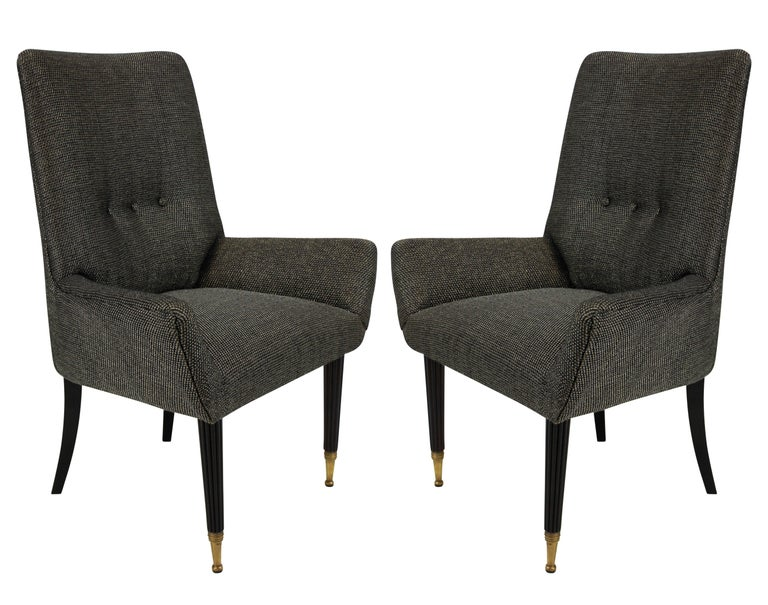 Pair of Stylish Italian Bedroom Chairs In Good Condition In London, GB