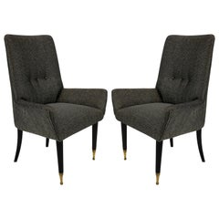 Pair of Stylish Italian Bedroom Chairs