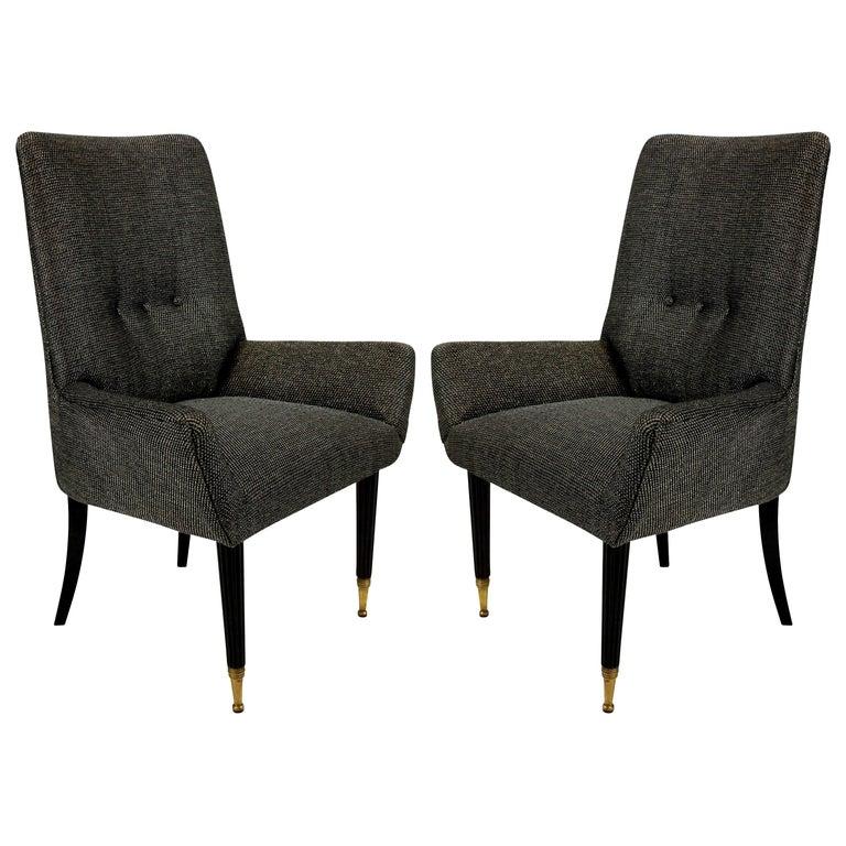 Pair of Stylish Italian Bedroom Chairs