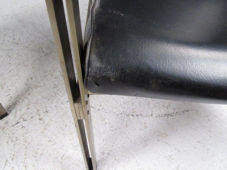 Pair of Stylish Italian Modern Armchairs For Sale 12