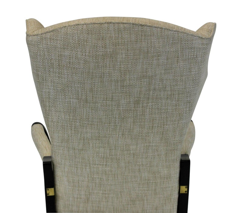 Mid-20th Century Pair of Stylish Italian Reclining Armchairs For Sale