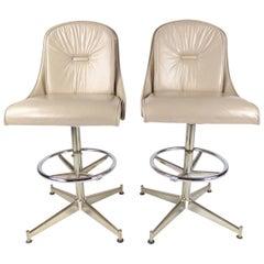 Pair of Stylish Modern Barstools by Daystrom