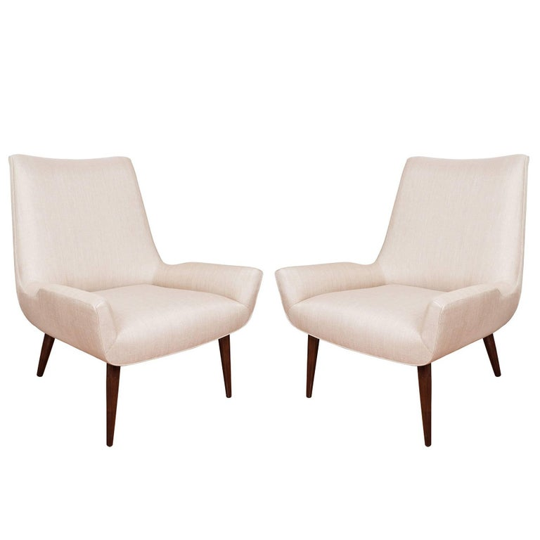Pair of Stylized Armchairs For Sale
