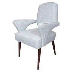 Pair of Stylized Armchairs with Crossbar Back