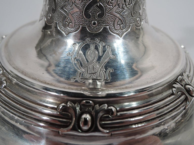 Pair of Sumptuous French Classical Silver Candlesticks by Odiot For Sale 1