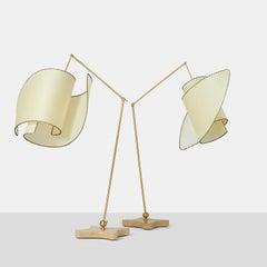 """Pair of """"Suora"""" Floor Lamps by Carlo Mollino"""