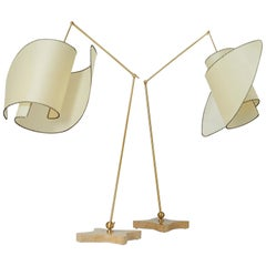 "Pair of ""Suora"" Floor Lamps by Carlo Mollino"