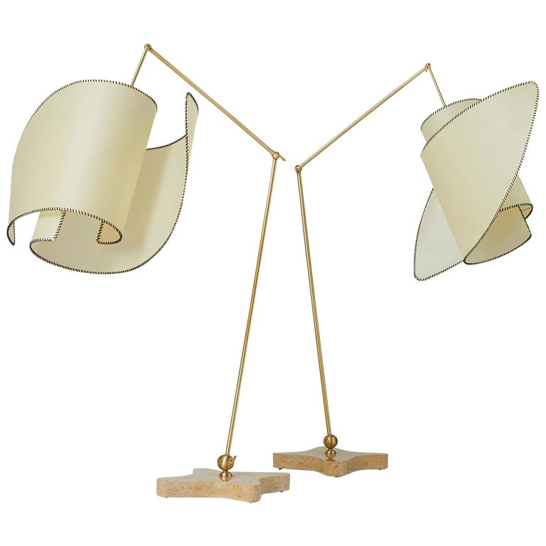 """Pair of """"Suora"""" Floor Lamps by Carlo Mollino For Sale"""