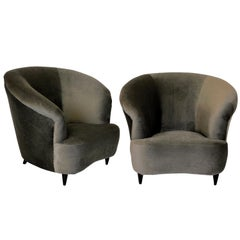 Pair of Super Comfortable Lounge Chairs by Parisi