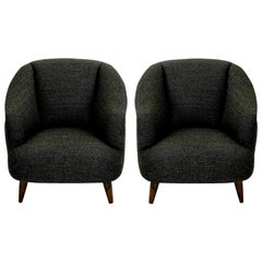 Pair of Super Comfortable Midcentury Lounge Chairs