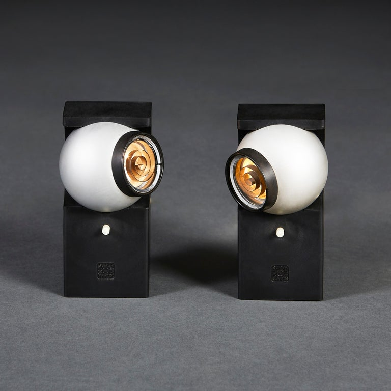 Pair of Superjet Spotlights by Robert Heritage, Concord Lighting International In Good Condition For Sale In London, GB