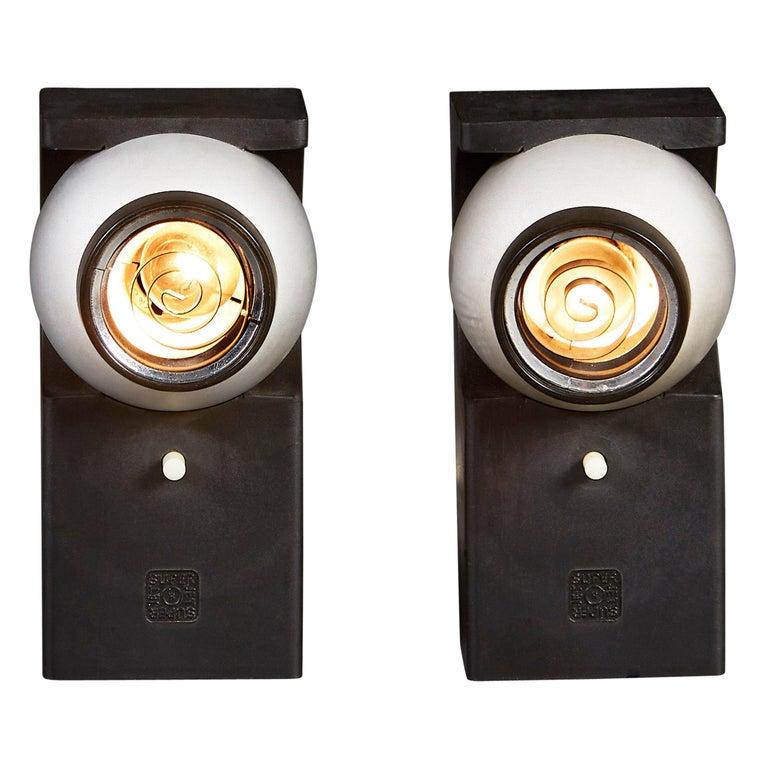 Pair of Superjet Spotlights by Robert Heritage, Concord Lighting International For Sale