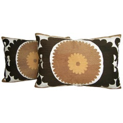 Pair of Suzani Pillows, circa 1920  1587p   1588p  :   Y & B Bolour