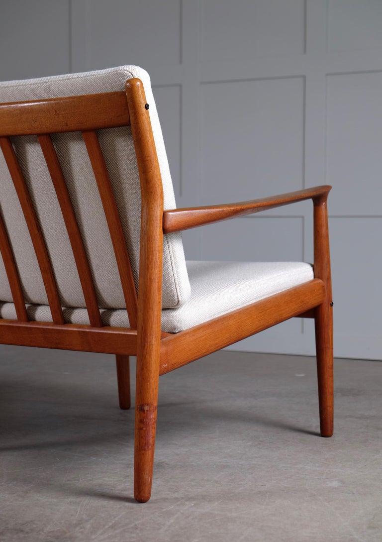 Teak Pair of Svend Aage Eriksen Easy Chairs, Denmark, 1960s For Sale