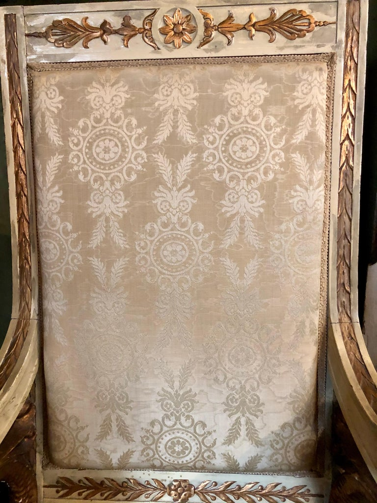 Pair of Swan 19th Century Armchairs For Sale 6