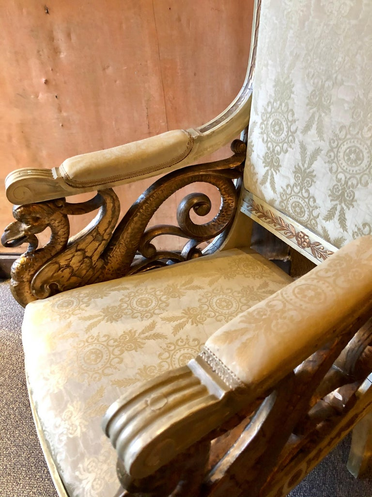 Pair of Swan 19th Century Armchairs For Sale 2