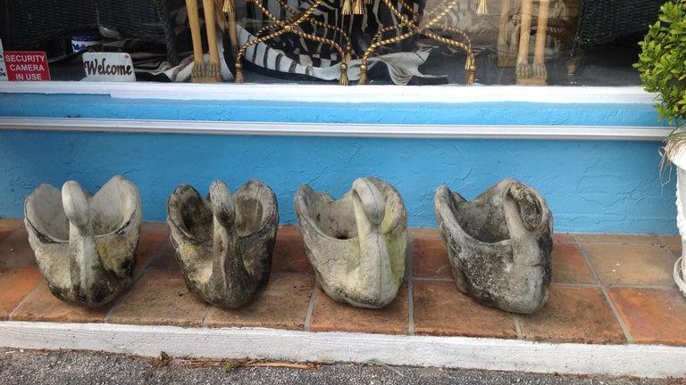 Pair of Swan Motif Planters For Sale 5