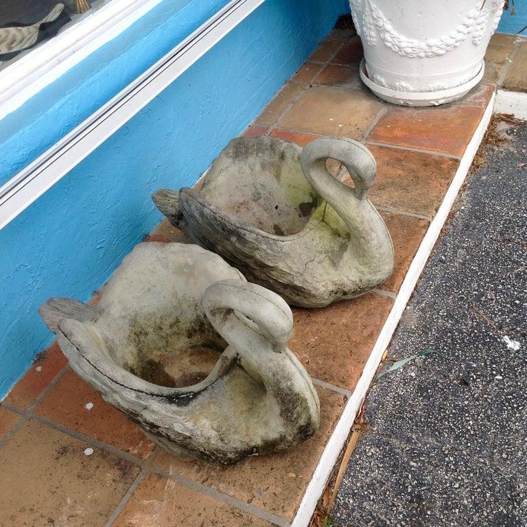 Pair of Swan Motif Planters For Sale 9