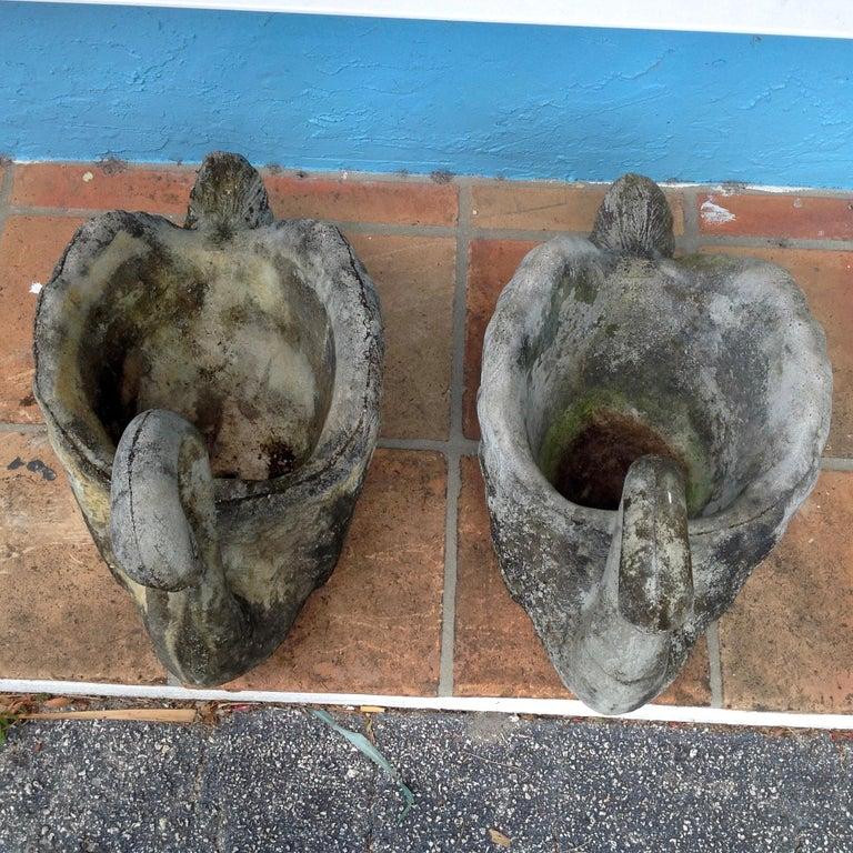 Pair of Swan Motif Planters For Sale 10
