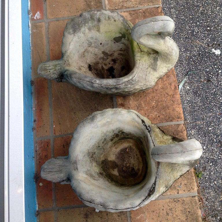 Pair of Swan Motif Planters For Sale 13