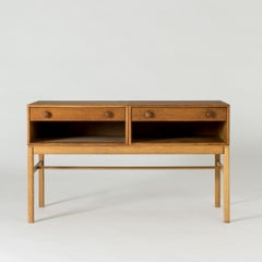 Pair of Swedish 1930s Pine Side Tables and Small oak sideboard