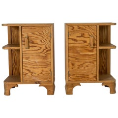 Pair of Swedish 1930s Pine Side Tables