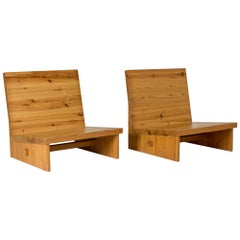 Pair of Swedish 1960s Pine Lounge Chairs