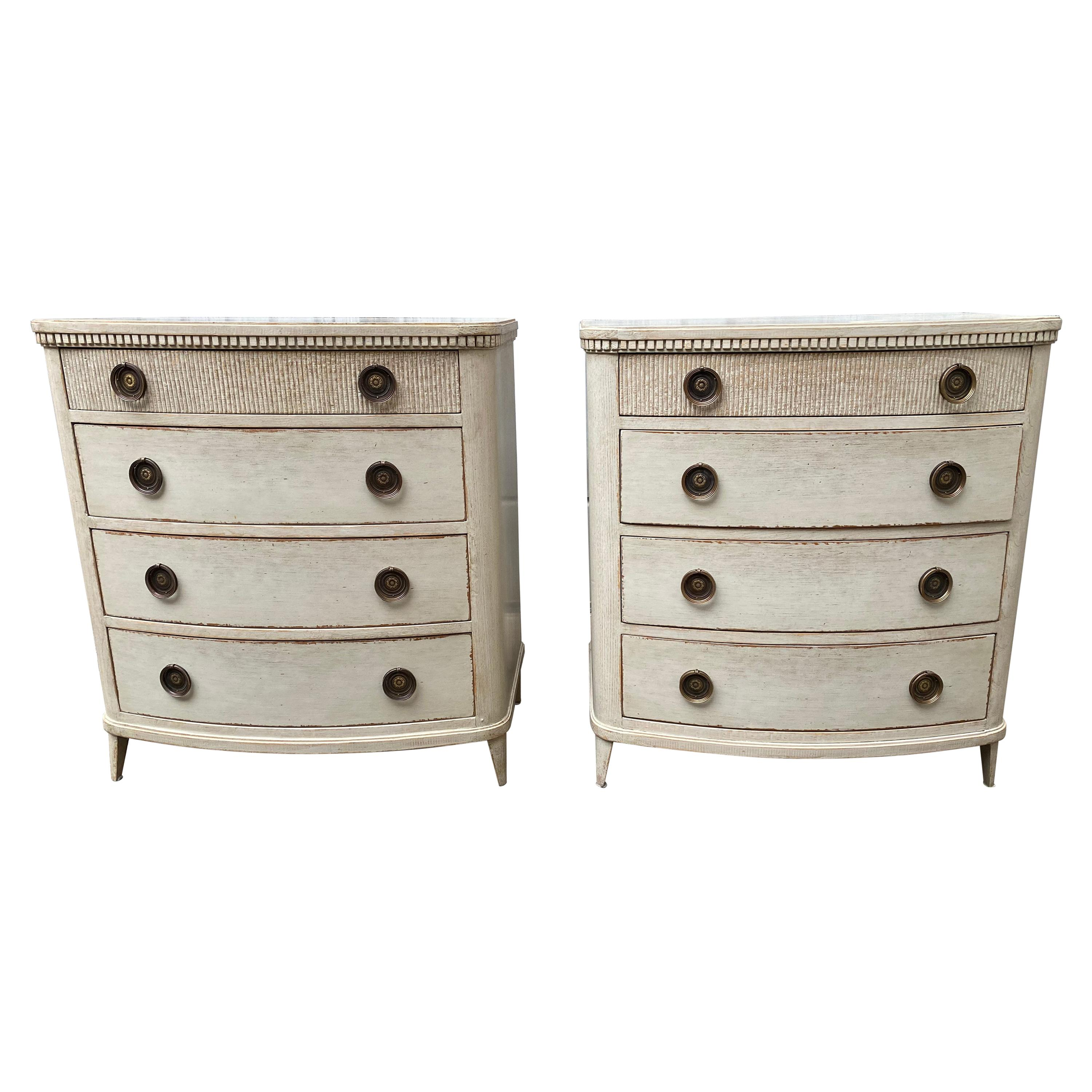 Pair of Swedish 19th Century Painted Chest of Drawers