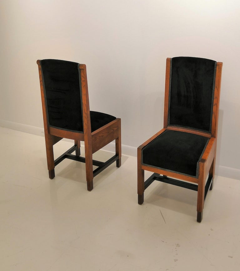 Pair of Swedish Art Deco Chairs, Sweden, 1930s For Sale 2