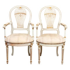 Pair of Swedish Balloon Back Armchairs