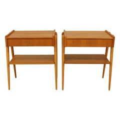 Pair of Swedish, Bedside Tables in Teak, 1960s