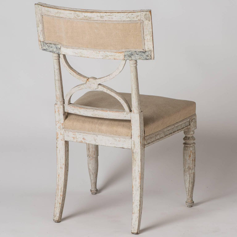 """Pair of Swedish """"Bellman"""" Side Chairs, circa 1800 For Sale 2"""