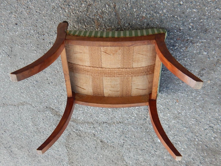 Pair of Swedish Biedermeier Revival Benches or Foot Stools, 1920s For Sale 8