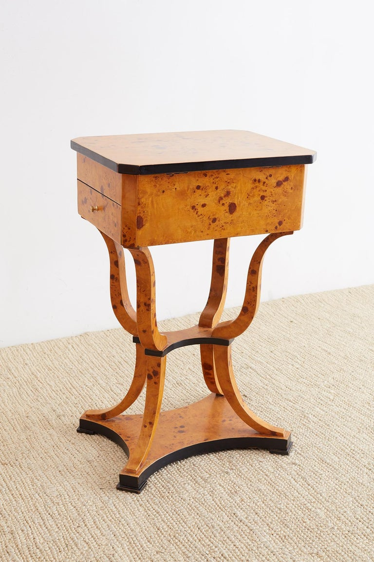 Pair of Swedish Biedermeier Style Sewing Table or Nightstands For Sale 13