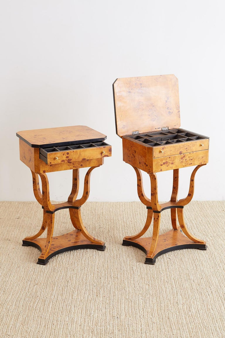 Pair of Swedish Biedermeier Style Sewing Table or Nightstands For Sale 5