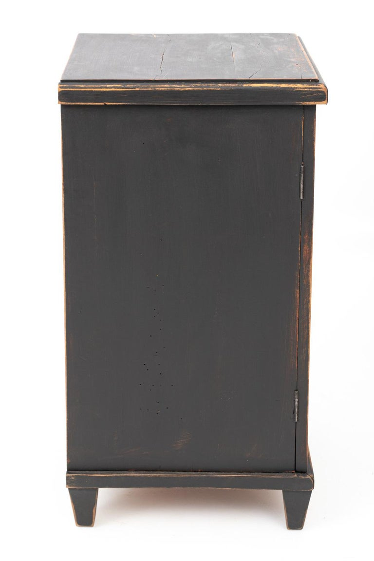 Pair of Swedish Black Painted Bedside Cabinets For Sale 6