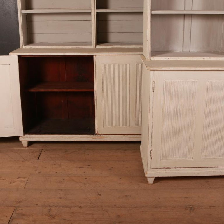 Pair of Swedish Bookcases For Sale 3