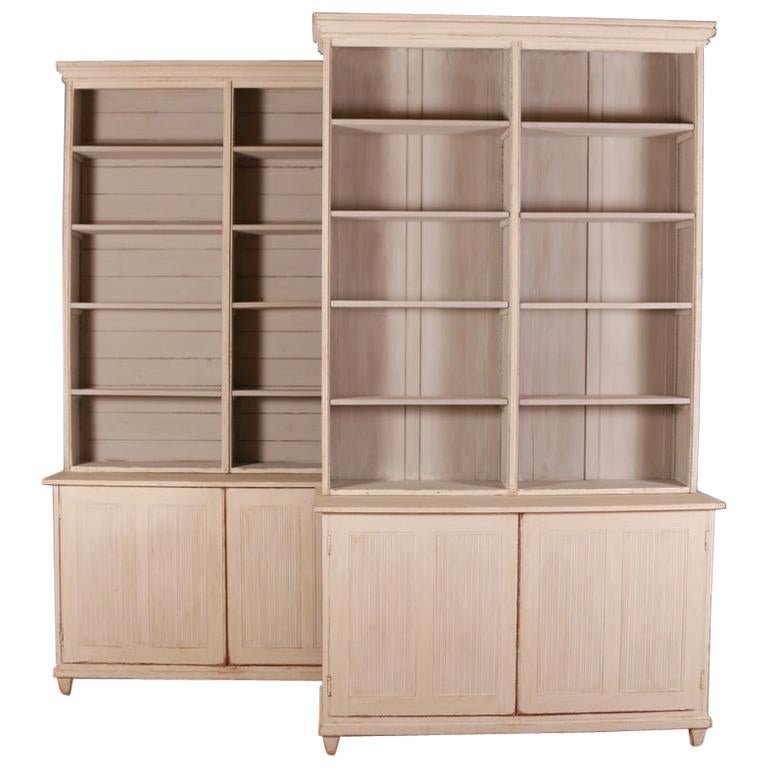 Pair of Swedish Bookcases For Sale