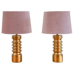 Pair of Swedish Ceramic Table Lamps, 1970s