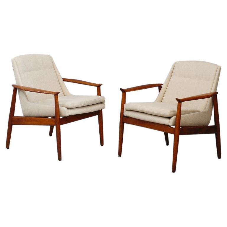 Pair of Swedish Design Armchairs, 1950s