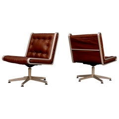 Pair of Erik Sigfrid Persson Easy Chairs, Sweden, 1970s