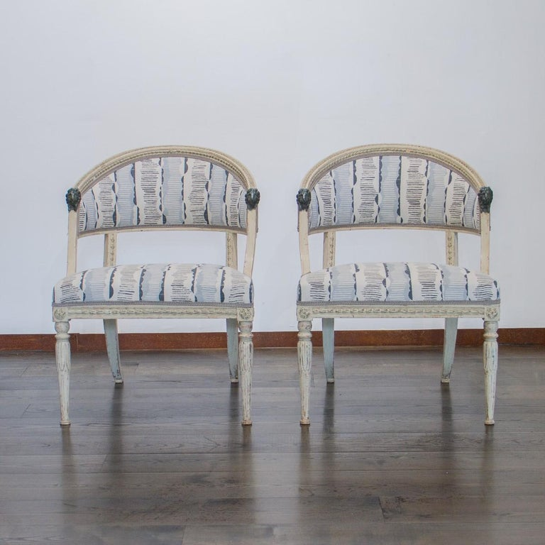 Pair of Swedish Empire Chairs, circa 1800 In Good Condition For Sale In Donhead St Mary, Wiltshire