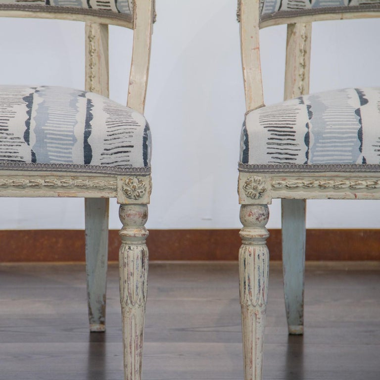 Early 19th Century Pair of Swedish Empire Chairs, circa 1800 For Sale