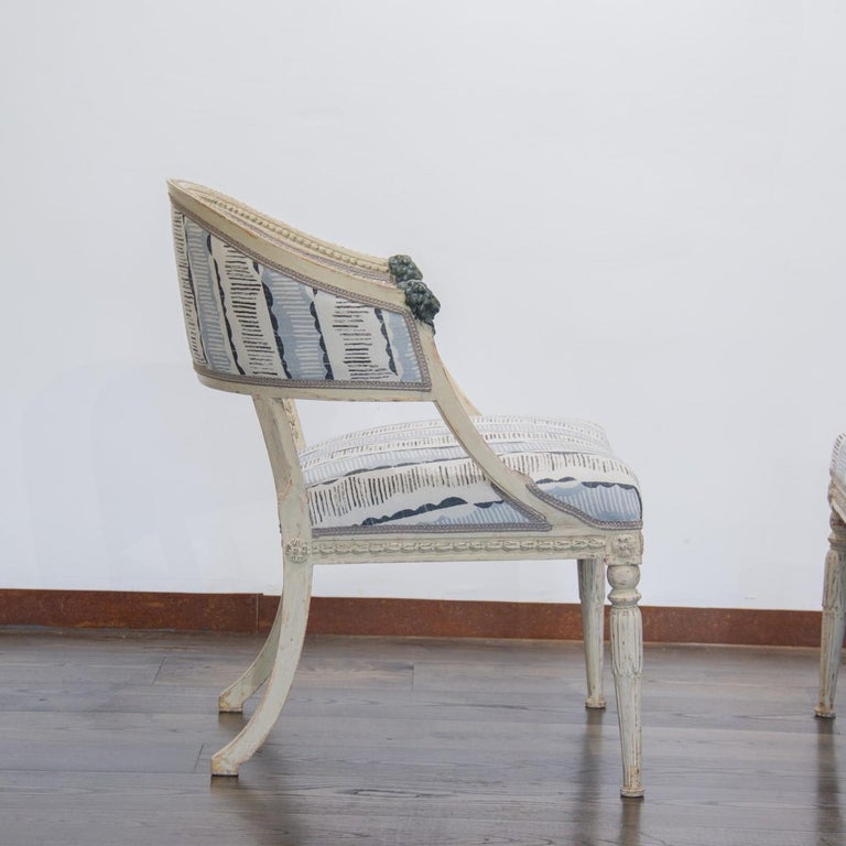 Pair of Swedish Empire Chairs, circa 1800 For Sale 2